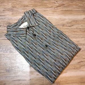 Vintage Silk Circa 1969 Men's Short Sleeve Shirt